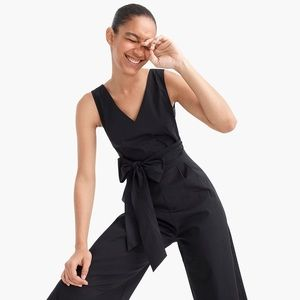 J.Crew Tall Wrapped Tie jumpsuit in Peplum
